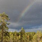 Jodå, regnbågen fick vi se också.
